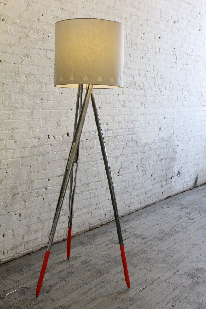 Diy Metallic Silver Dipped Tripod Floor Lamp Tutorial Ilikethatlamp For More Lighting Ideas To Pin Follow Pinterest