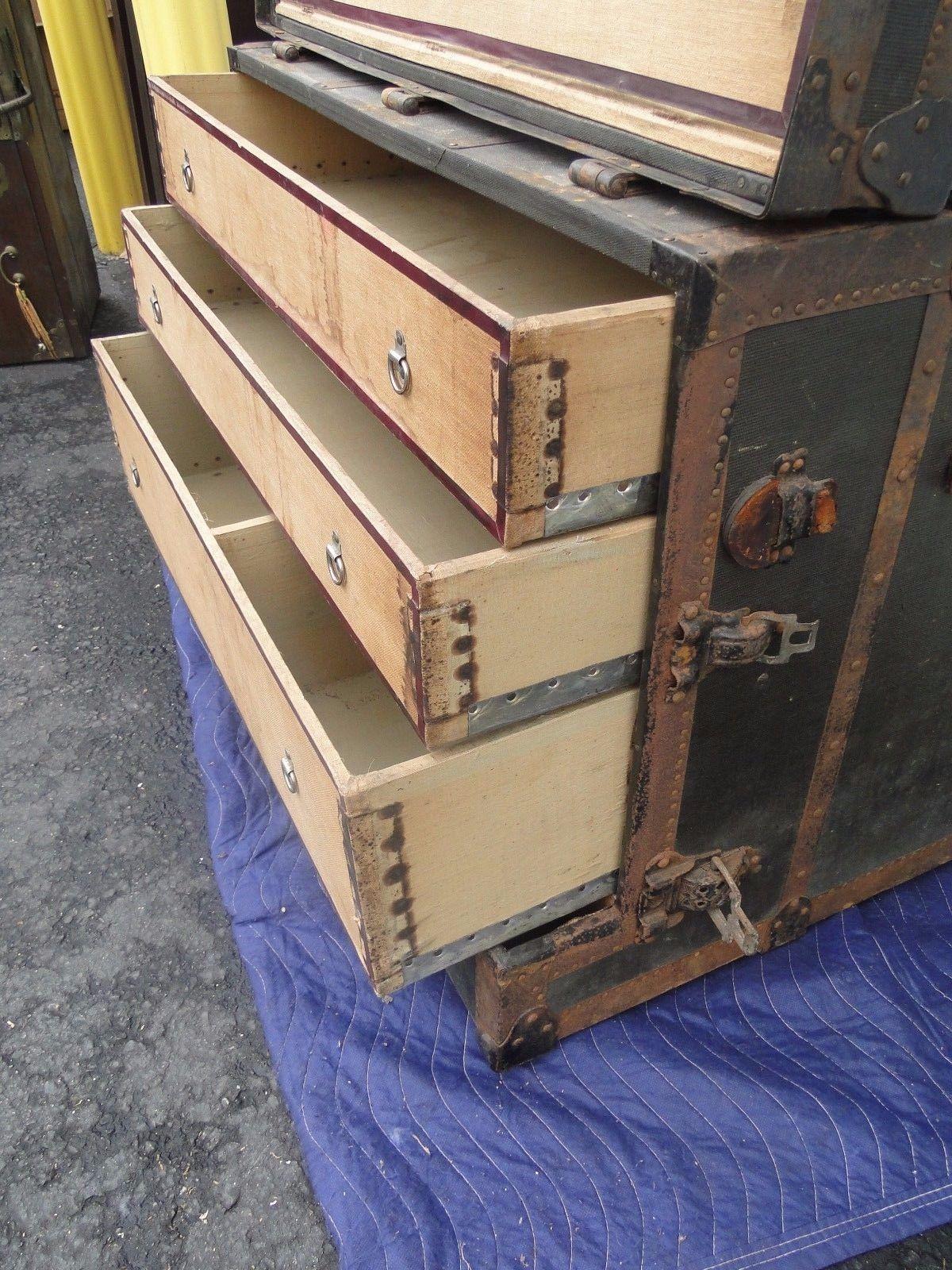 Rare Frank A Stallman Columbus Ohio Dresser Trunk Unusual | eBay - Rare Frank A Stallman Columbus Ohio Dresser Trunk Unusual