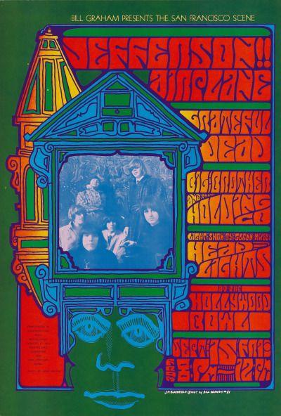 Jefferson Airplane/Grateful Dead/Big Brother and the Holding Company/Glenn McKay's Head Lights, September 15, 1967 - Hollywood Bowl (Hollywood, CA) Art : Jim Blashfield | Herb Greene