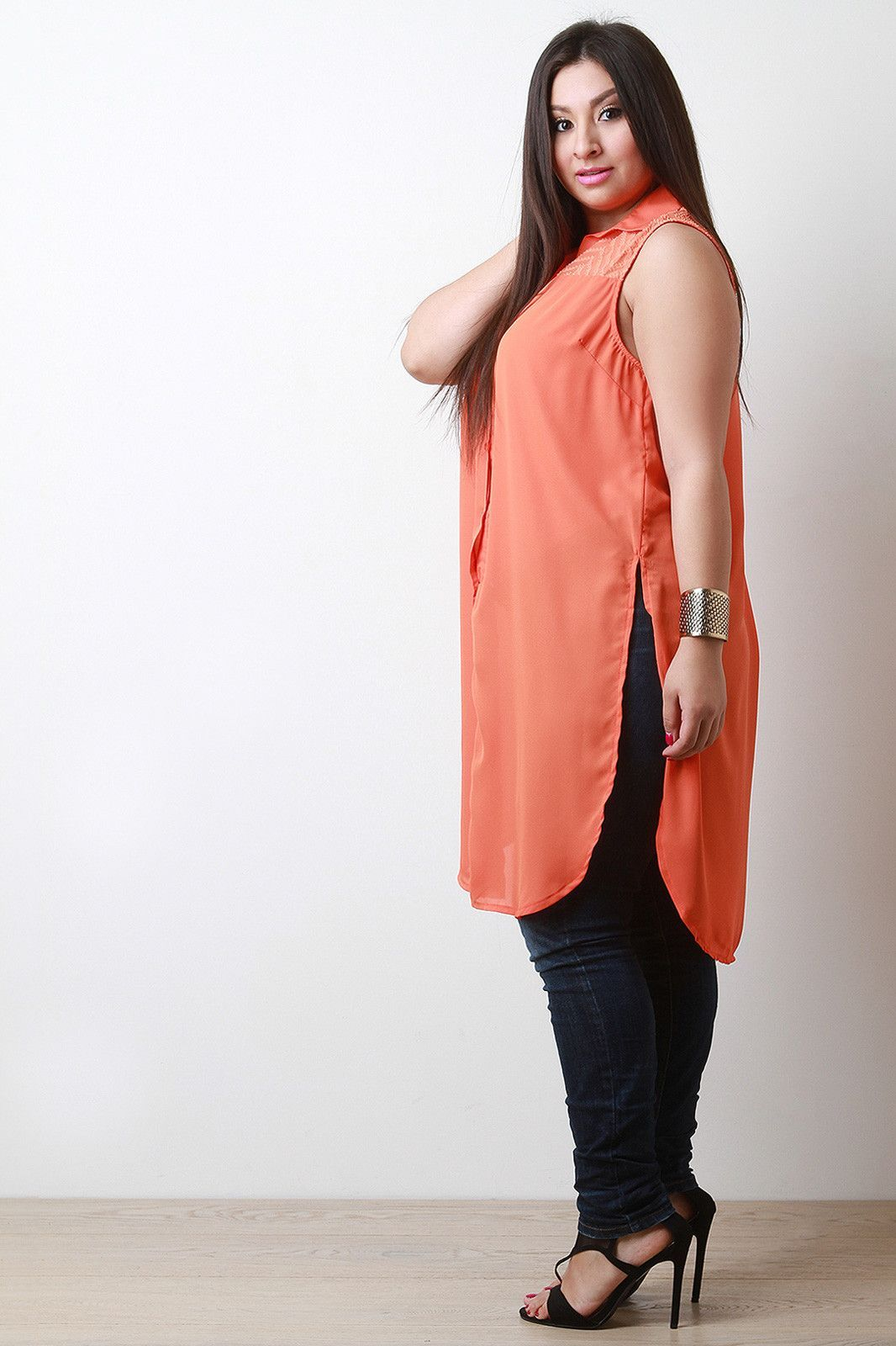 Sleeveless button down maxi top products pinterest products