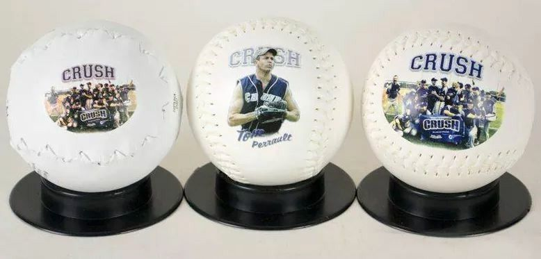 We Have A Triple Crush On This Sf Softball Team Go Tom Perrault Custom Softball Softball Team Softballs