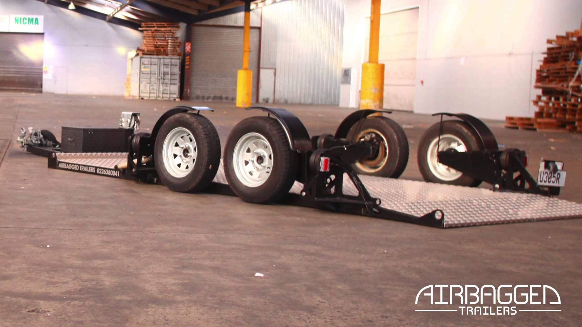Airbagged trailers are the ultimate car trailer for smooth towing and easy loading this video shows the first prototype from so please see our other v