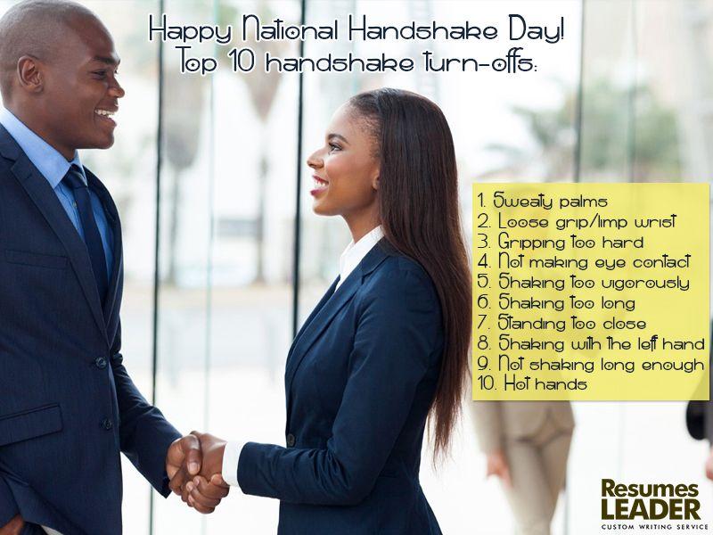 Happy National Handshake Day! 29June Handshake