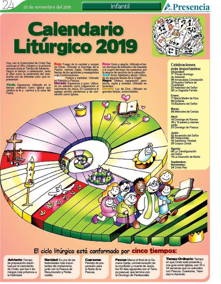 Calendario Litúrgico 2019 Presencia Digital In 2021 Catholic Lent Kids Faith Bible Crafts