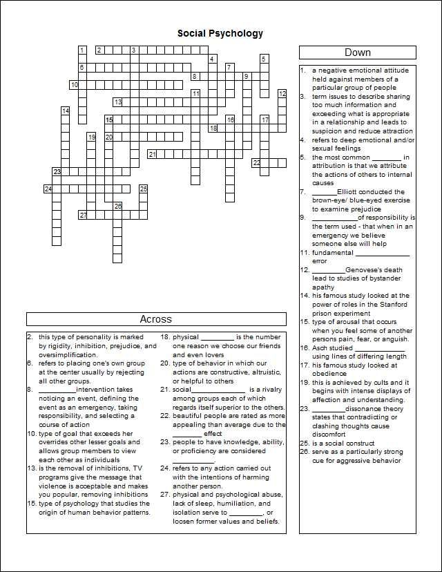 Etiological study crossword puzzle