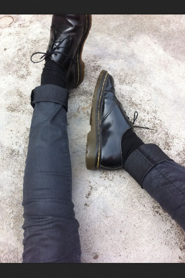 Patent Oxford doc martens SO WANT the docs with ruffled socks