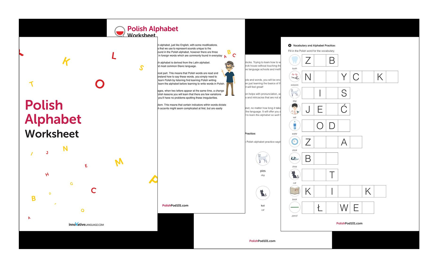 4 Worksheet Number Words Activities Trace Learn The Polish