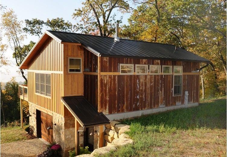 Walkout Cabin Built Into Hillside With Garage Below Http