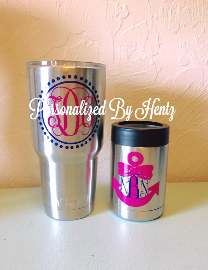 Pin By Andi Branch On It S A Yeti Thang Monogram Cups
