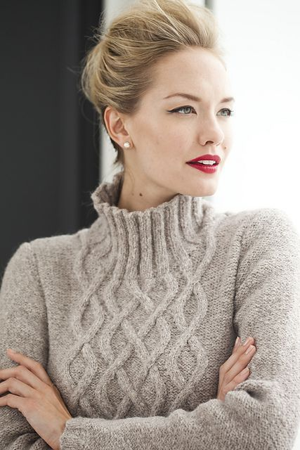 Ravelry: #25 A-Line Cable Mock Turtleneck pattern by Melissa Leapman - Vogue Knitting, Holiday 2013: