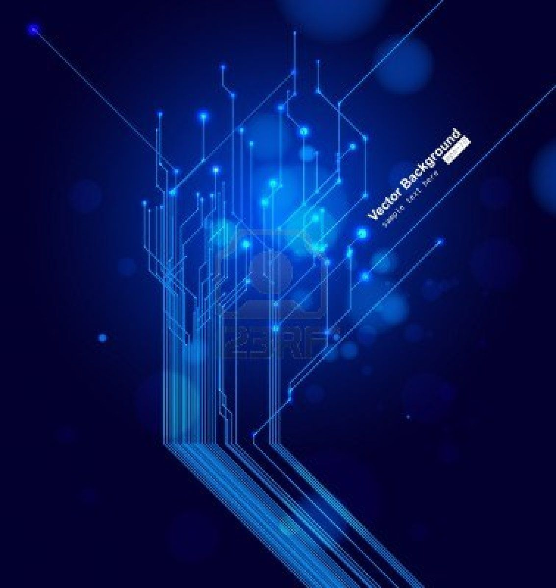 Vektor Platine Circuit Board Design Vector Background With Place For Text Stock Photo 8958079