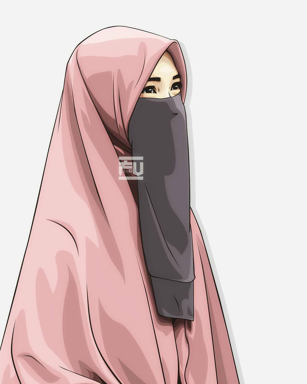 Vector Hijab Niqab Ahmadfu22 Kartun Gambar Gambar Karakter