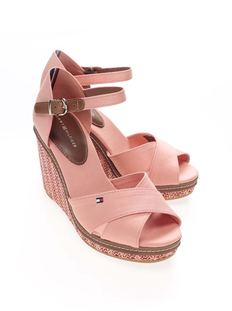 Lososové dámské bavlněné boty na klínku Tommy Hilfiger  93405c8c404