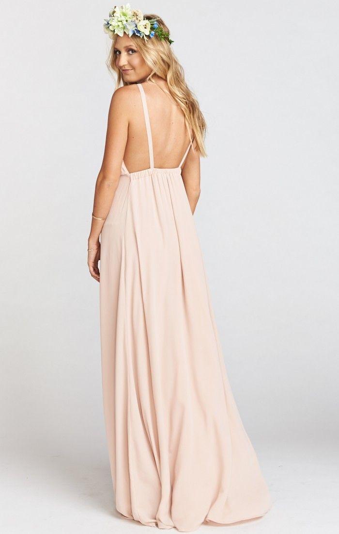 Show Me Your Mumu Amanda Maxi Dress Dusty Blush