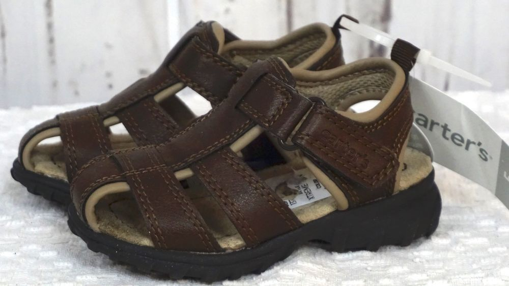 5b8349662a2f CARTERS XTREME CS 180632 BROWN Toddler Boys Fisherman Sandals Shoes Sz. 5  5T New  Carters  Sandals