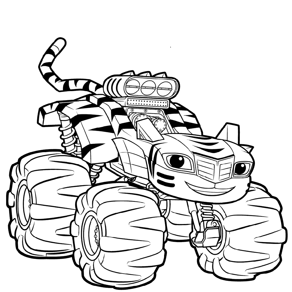 Blaze And The Monster Machine Coloring Pages For 2019 Educative Printable Coloring Pages Coloring Books Coloring Pages For Kids [ 1000 x 1000 Pixel ]