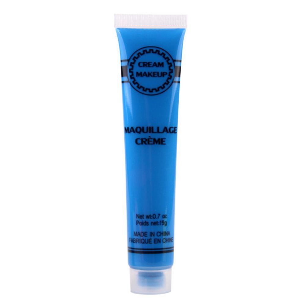 19 / 14,2 g Body Art Gesichtsfarbe Creme Tube Halloween Party Safe ungiftiges Pigment – Blau