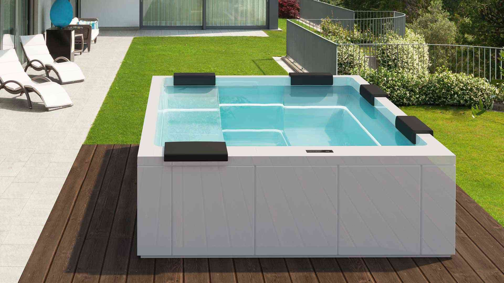Luxus Pool Whirlpool Maya Spanatural In 2020 Wirlpool Outdoor Whirlpool Pool