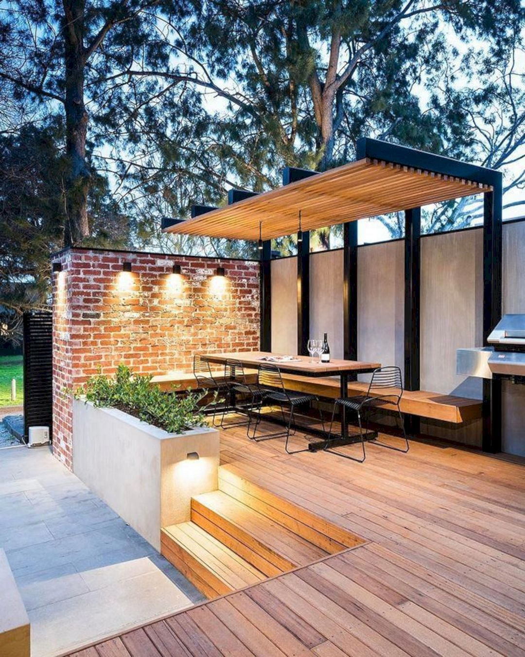 15 Modern Deck Patio Ideas For Backyard Design And Decoration Ideas #deckpatio