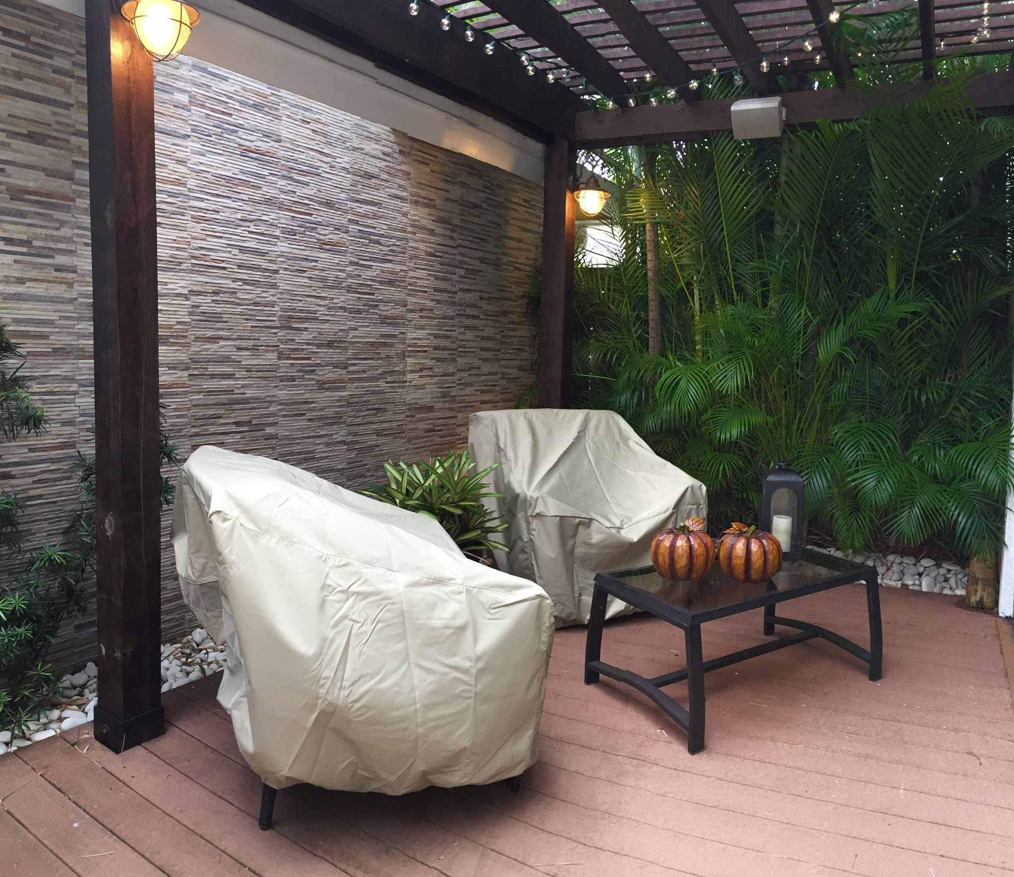 """""""My favorite spot in my patio deck. A retreat from the sun and the perfect place to enjoy the outdoor living!"""""""