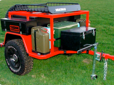 outland trailers: sherpa - keep stocked in the garage, hook