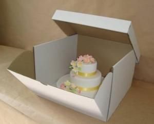 What a fabulous idea!! Cardboard tiered cake box for deliveries :o)