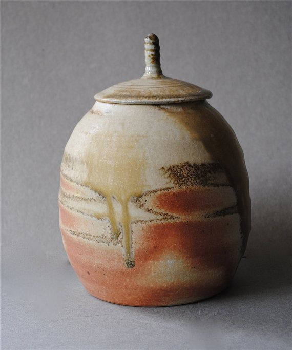 Wood Fired Covered Jar by JohnMcCoyPottery on Etsy, $65.00  www.etsy.com/shop/JohnMcCoyPottery