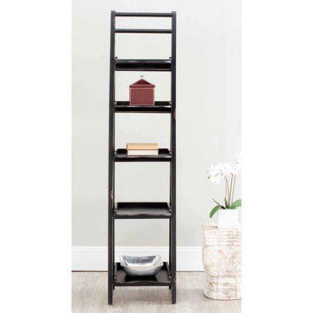 Safavieh Asher 5-Shelf Leaning Etagere, Multiple Colors, Black