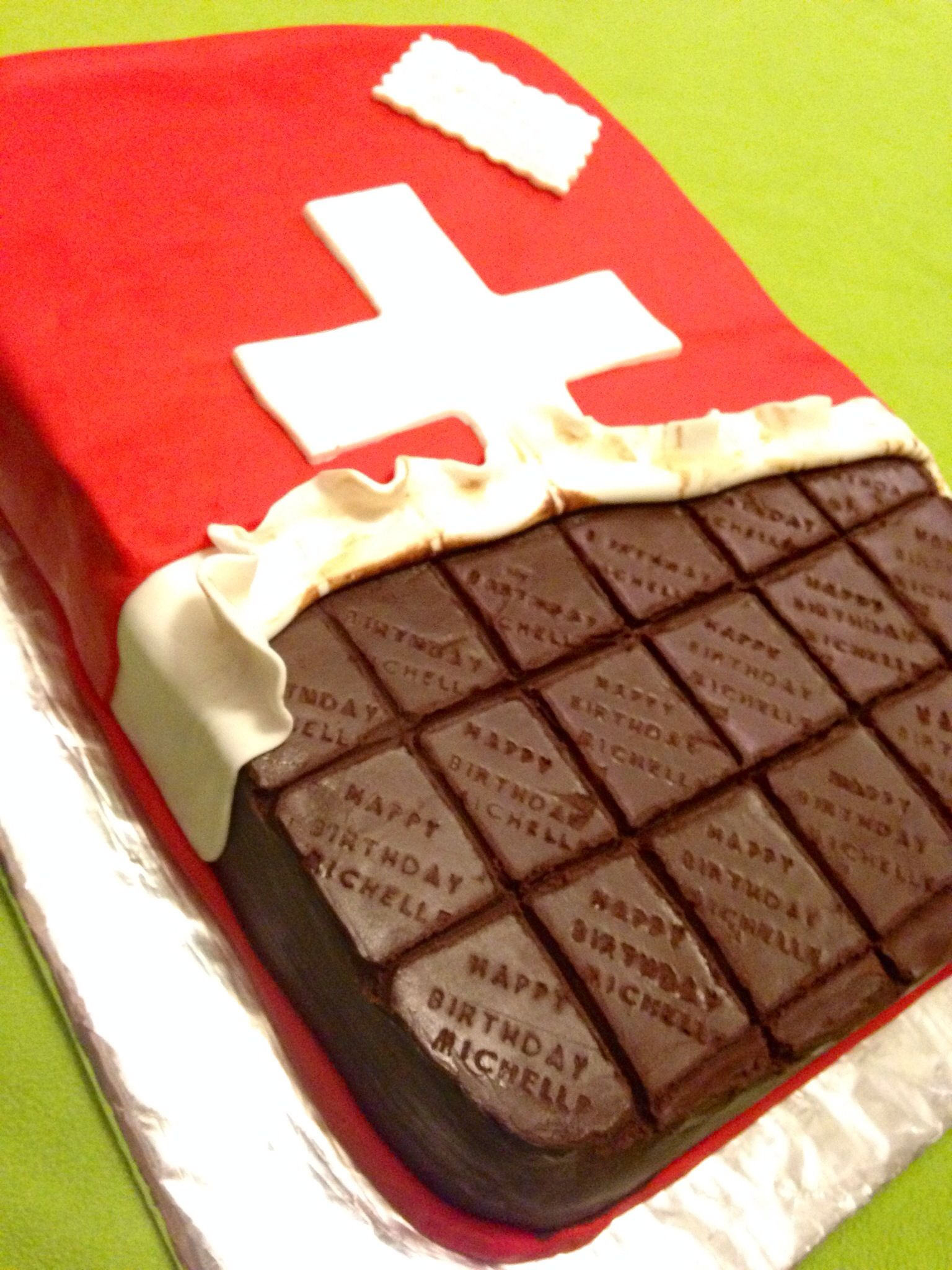 Swiss chocolate bar