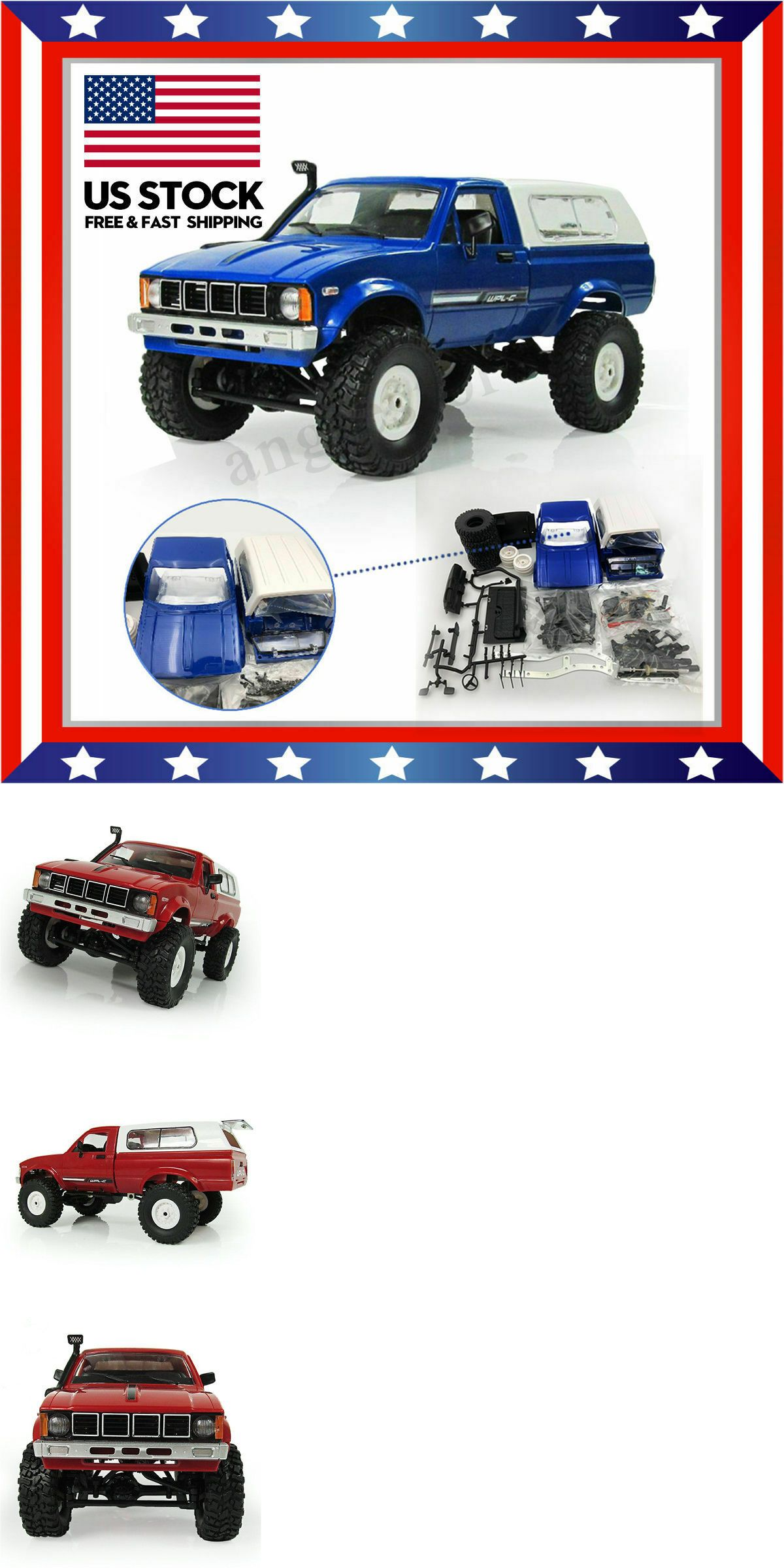 RC Model Vehicles and Kits 182181: Wpl C24 1 16 Kit 4Wd 2 4G