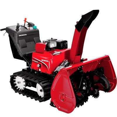Honda Hs1336i Two Stage 36 Self Propelled Infinitely Variable Hydrostatic Track Drive Snowblower W Electric St Snow Blower Snow Removal Machine Snow Removal