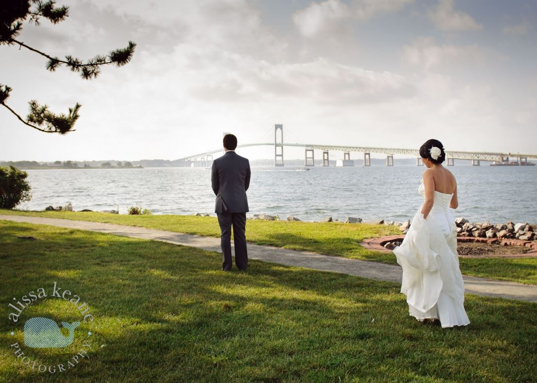 Wedding Photography First Look Newport Ri