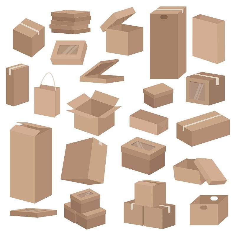 Carton Sinonimo De Reciclaje Y De Utilidad En 2020 Caja De