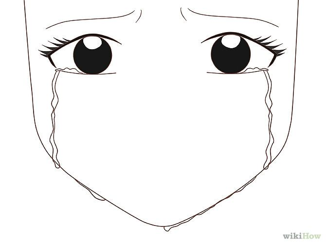 How To Draw An Anime Eye Crying How To Draw Anime Eyes Eye Drawing Simple Crying Girl Drawing