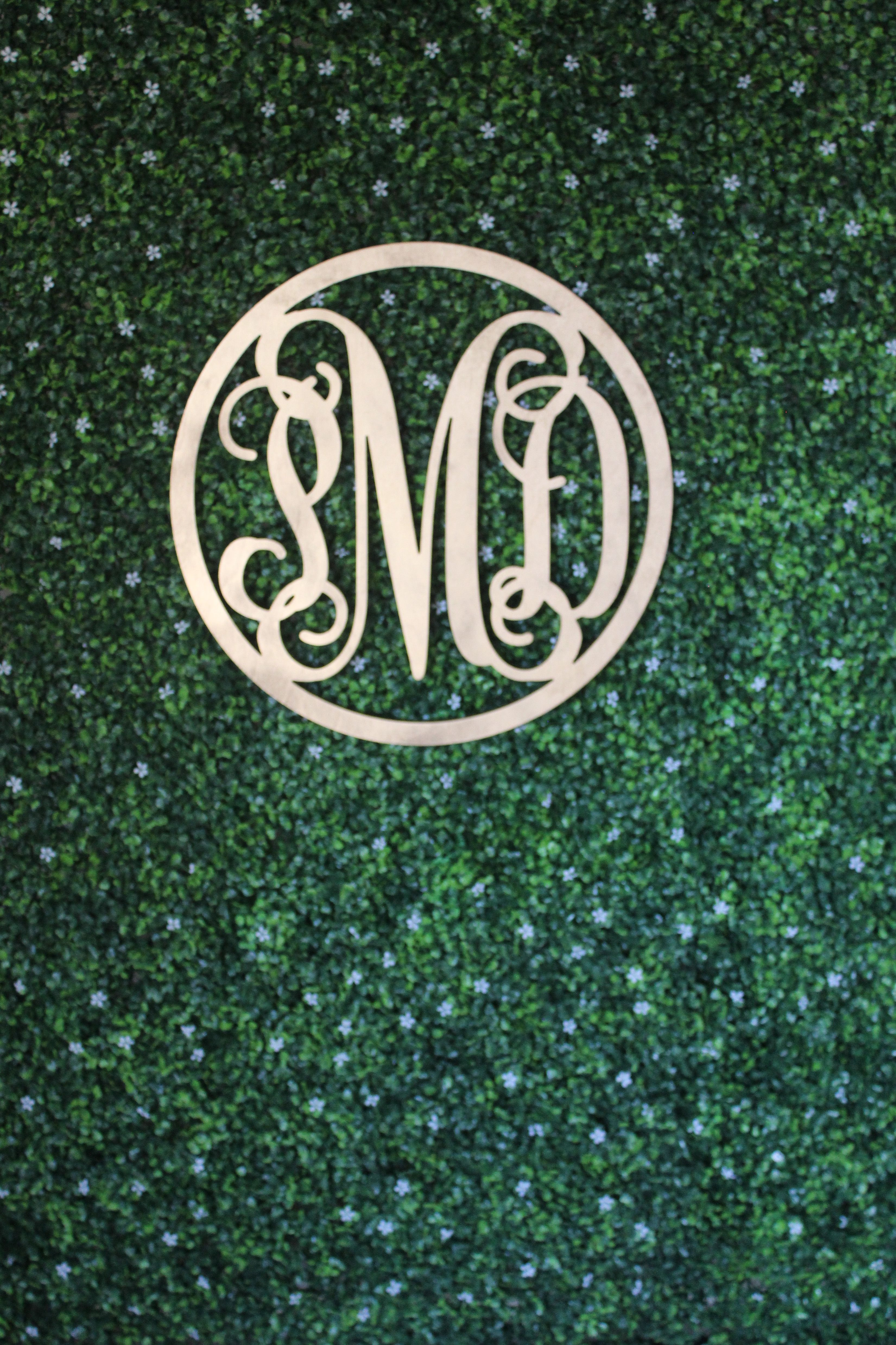 Dnicole Settings Wedding Backdrop Simple Boxwood Wall With 3 Letter