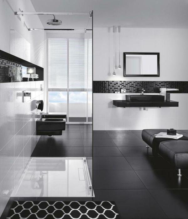 Gallery One  Cool Black And White Bathroom Design Ideas
