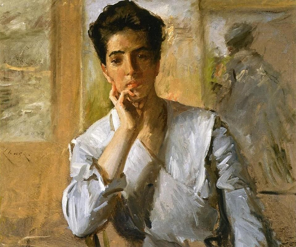 William Merritt Chase - Portrait Of Kate Freeman Clark, 1902