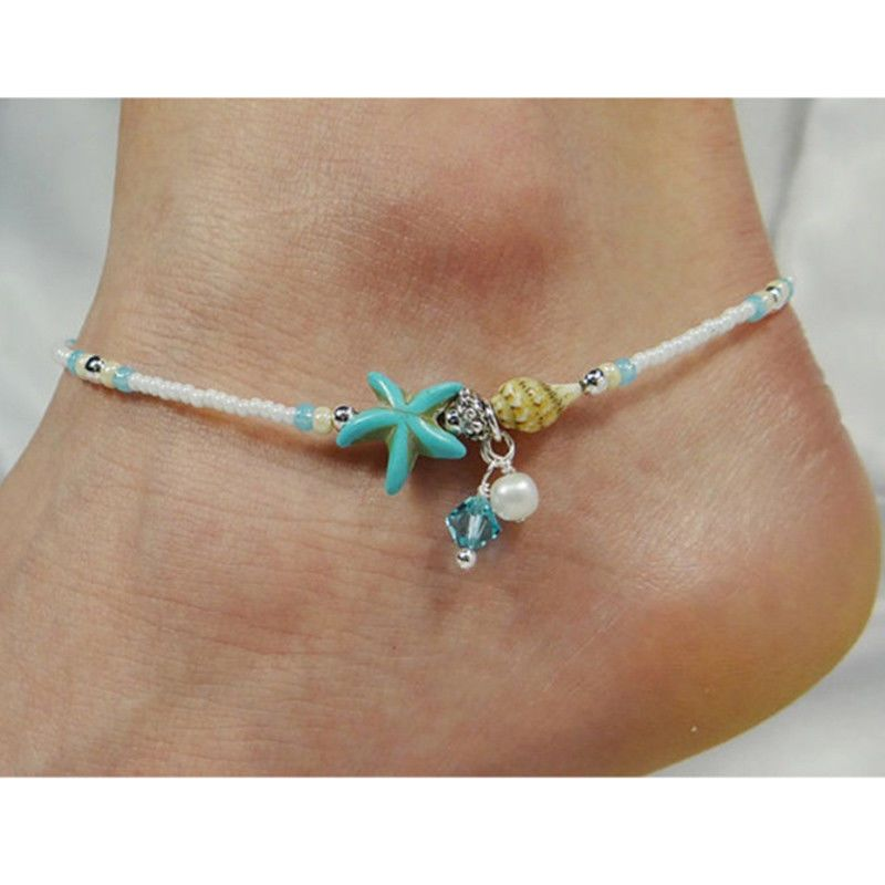 anklet gold fancy chain payal fashion shopping plated leg pearl online antique jewellery img