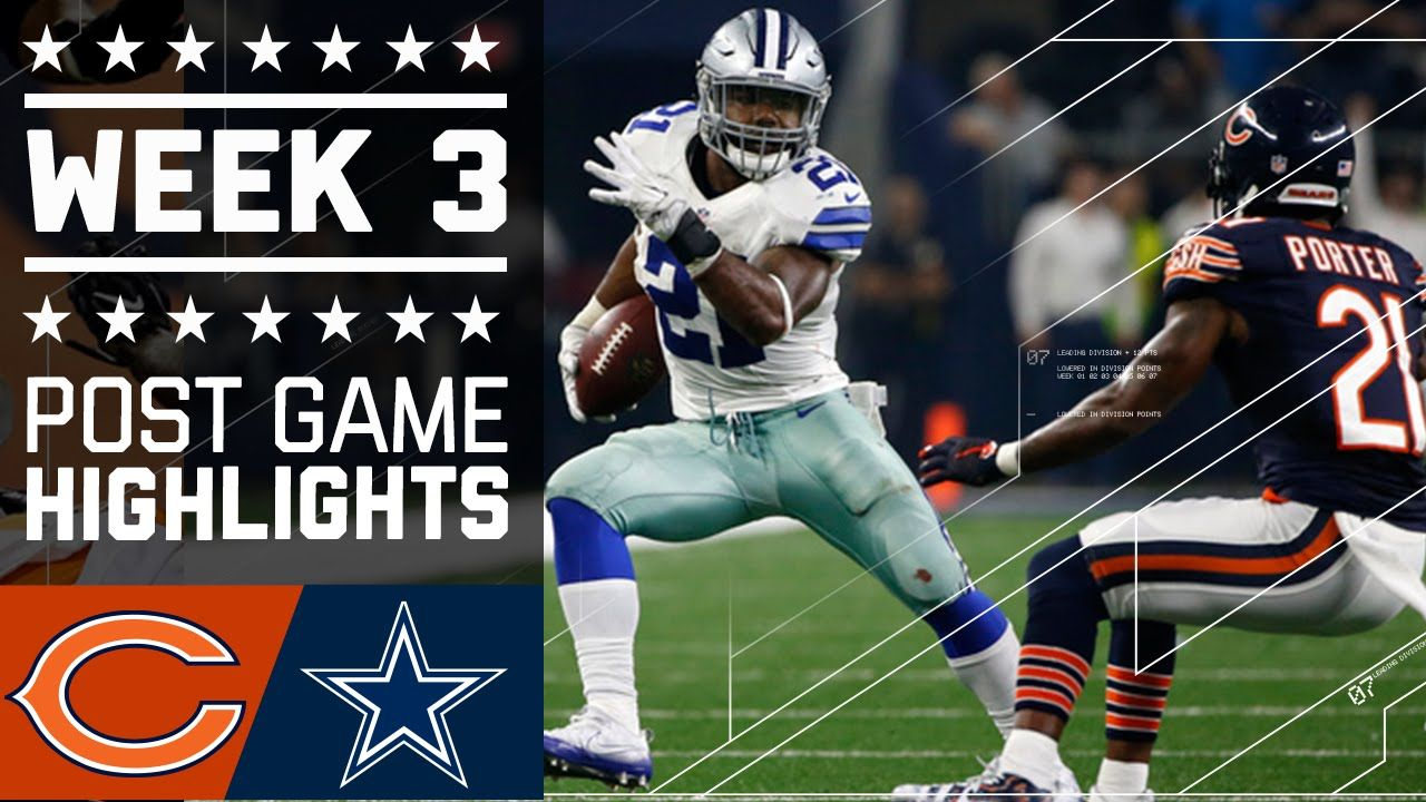 Bears Vs Cowboys Nfl Week 3 Game Highlights Nfl Week Nfl Football Players Sports Clips