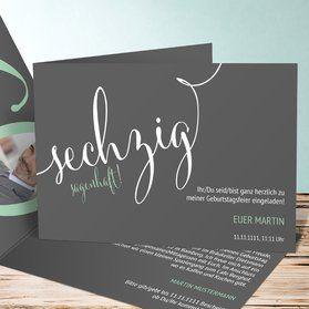 Sagenhafte Sechzig Geburtstagseinladungen Einladungskarten