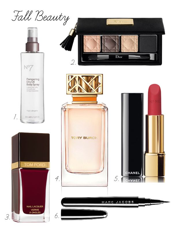 Fall Beauty- Tory Burch, Boots, Tom Ford, Chanel, Dior, marc jacobs