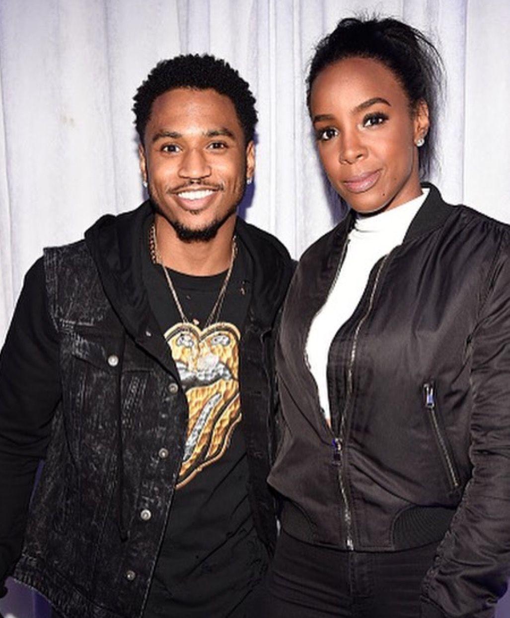 Trey s 28th Bday Party Trey and Kelly Rowland
