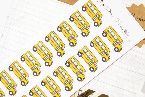 School bus stickers! #eclp #erincondren #erincondrenlifeplanner #planner #planning #plannerlove #eclifeplanner #lifeplanner #planneraddict #weloveec #plannersupplies #OhHelloStationery