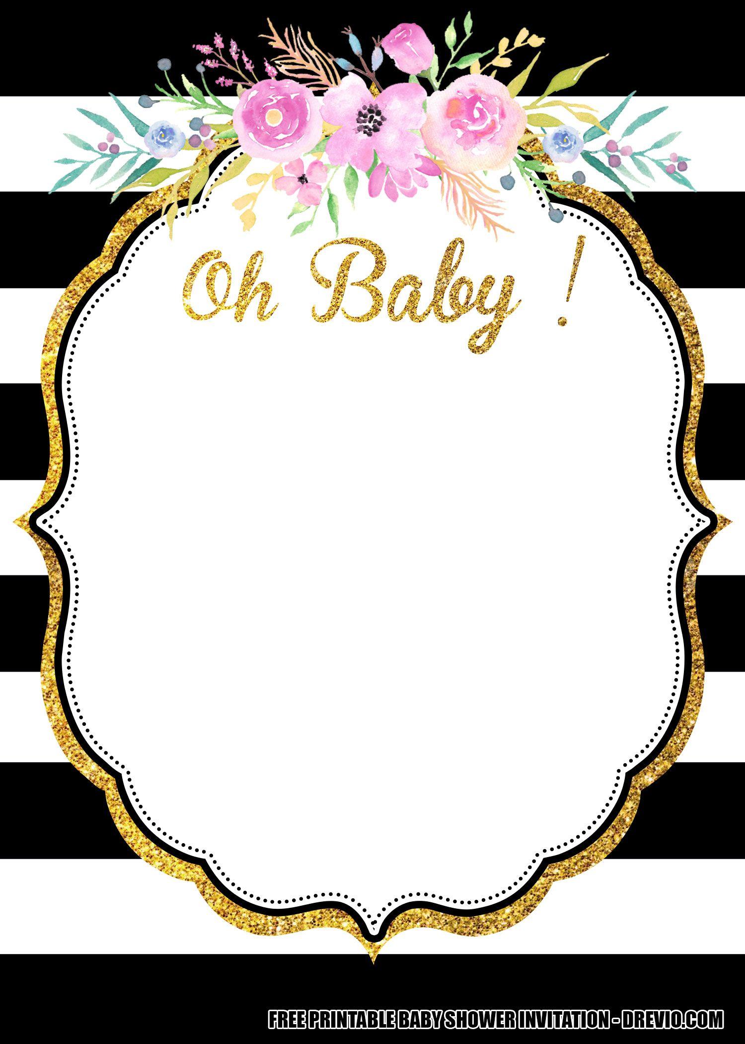Free Flower Baby Shower Invitation Templates Downloadable Flower Baby Shower Invites Printable Baby Shower Invitations Free Printable Baby Shower Invitations