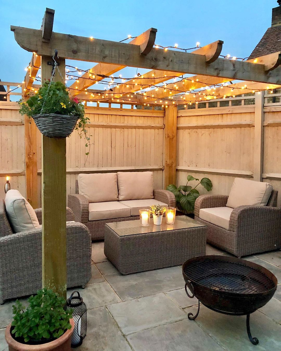 Here's a Quick Way to Create a Cozy Patio [15 Patio Furniture and Patio Accessories Ideas is part of Backyard patio designs, Outdoor gardens design, Backyard patio, Backyard decor, Backyard, Back garden design - Want a perfect patio this summer  Check out these15 ideas to make your patio more cozy, relaxing and welcoming [Patio furniture ideas and patio accessories]