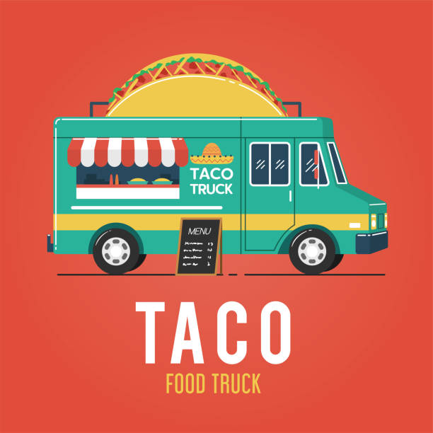Best Taco Truck Illustrations Royalty Taco Truck Taco Food Truck Food Truck