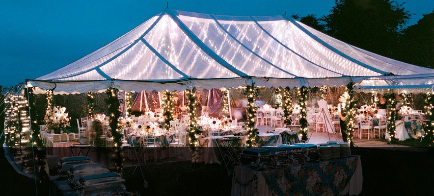 If I Have An Outside Reception I Want A Clear Tent With Lights