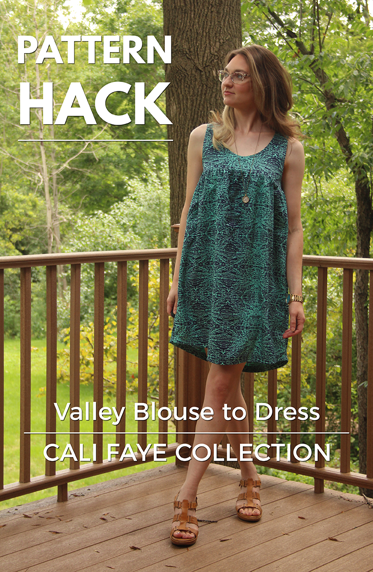 I hacked the Cali Faye Valley blouse into a hot-weather busting mini ...