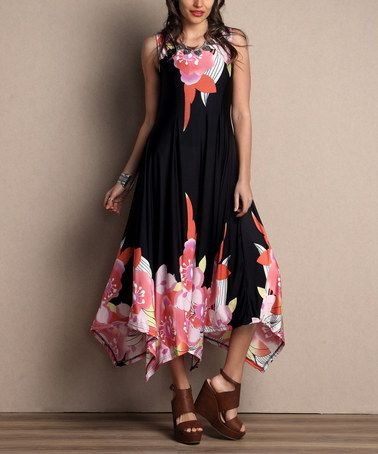 f5e1ff2228 This Black Floral Sleeveless Handkerchief Maxi Dress - Plus by Reborn  Collection is perfect!  zulilyfinds