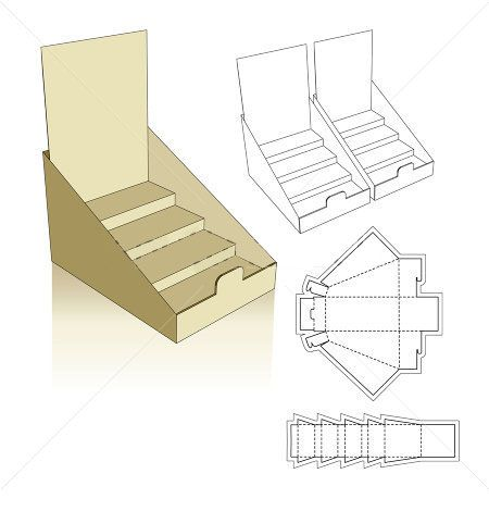 Stand displays template display and packaging for Cardboard business card holder template
